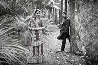 Indian Bride and Groom b & W