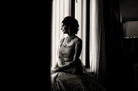 Indian Bride B & W at window